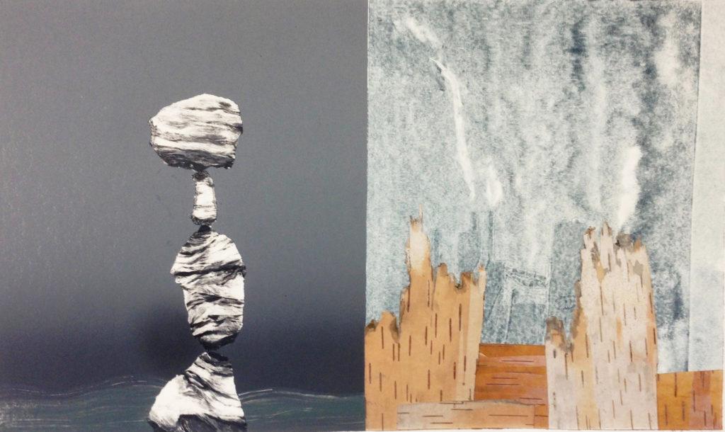 Fools Pillars by Andy Rubin. Promega Spring Art Show
