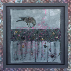 Foraging Crow by C. Quinn. Promega Spring Art show