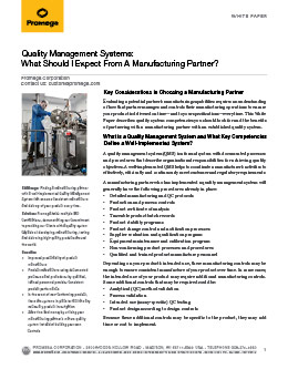 Quality management systems white paper