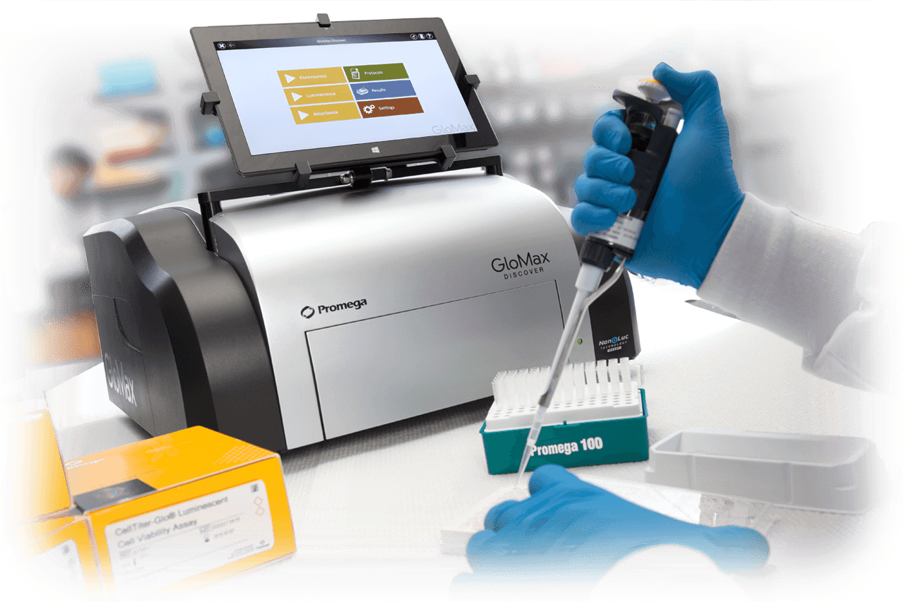 Glomax plate reader for Luminescence Detection