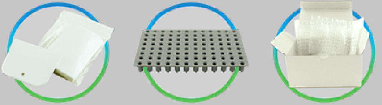 This is a picture of optical plate seals for PCR plates.