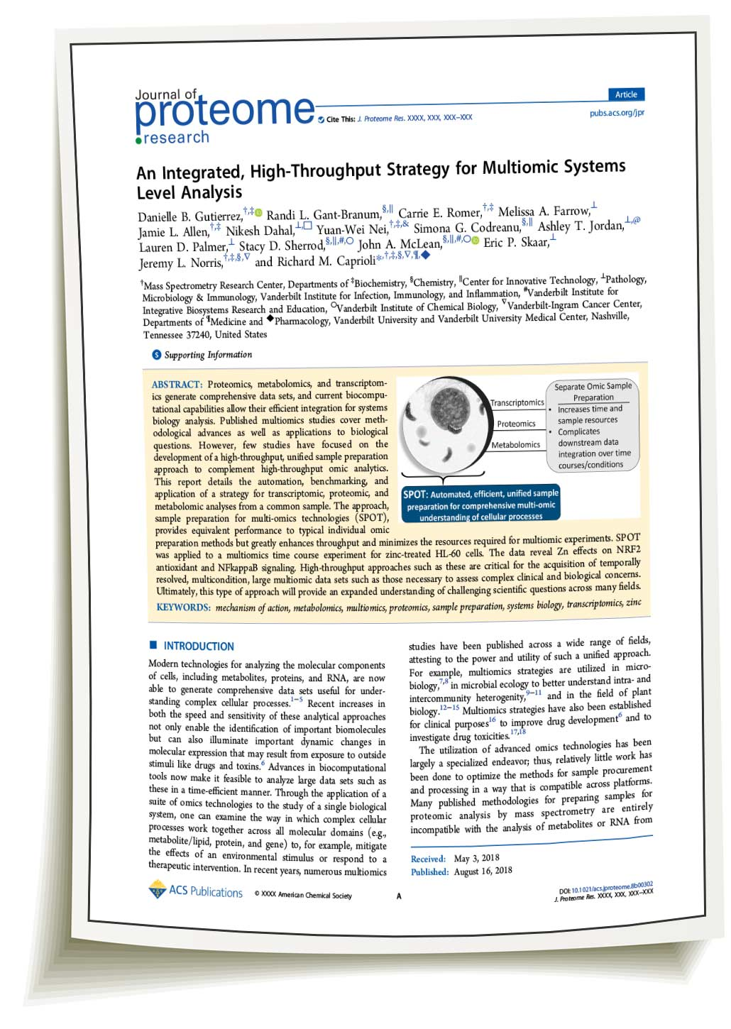 Rapid Digestion Trypsin in J. Proteome Research