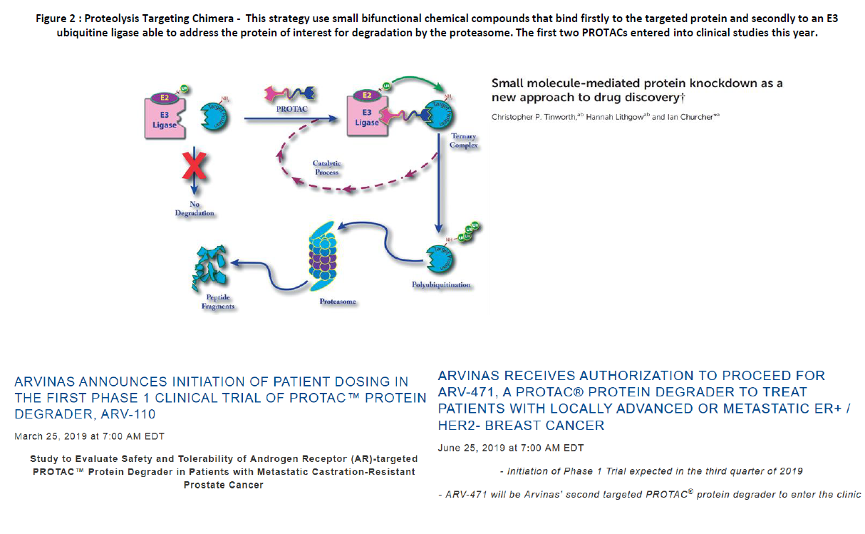 Small molecule-mediated protein knockdown drug discovery