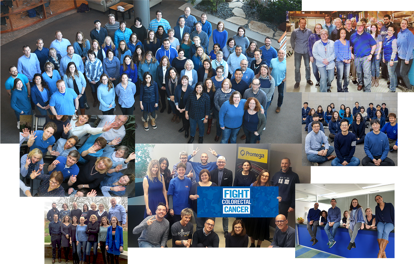 Promega employees wear blue and join the fight against colorectal cancer