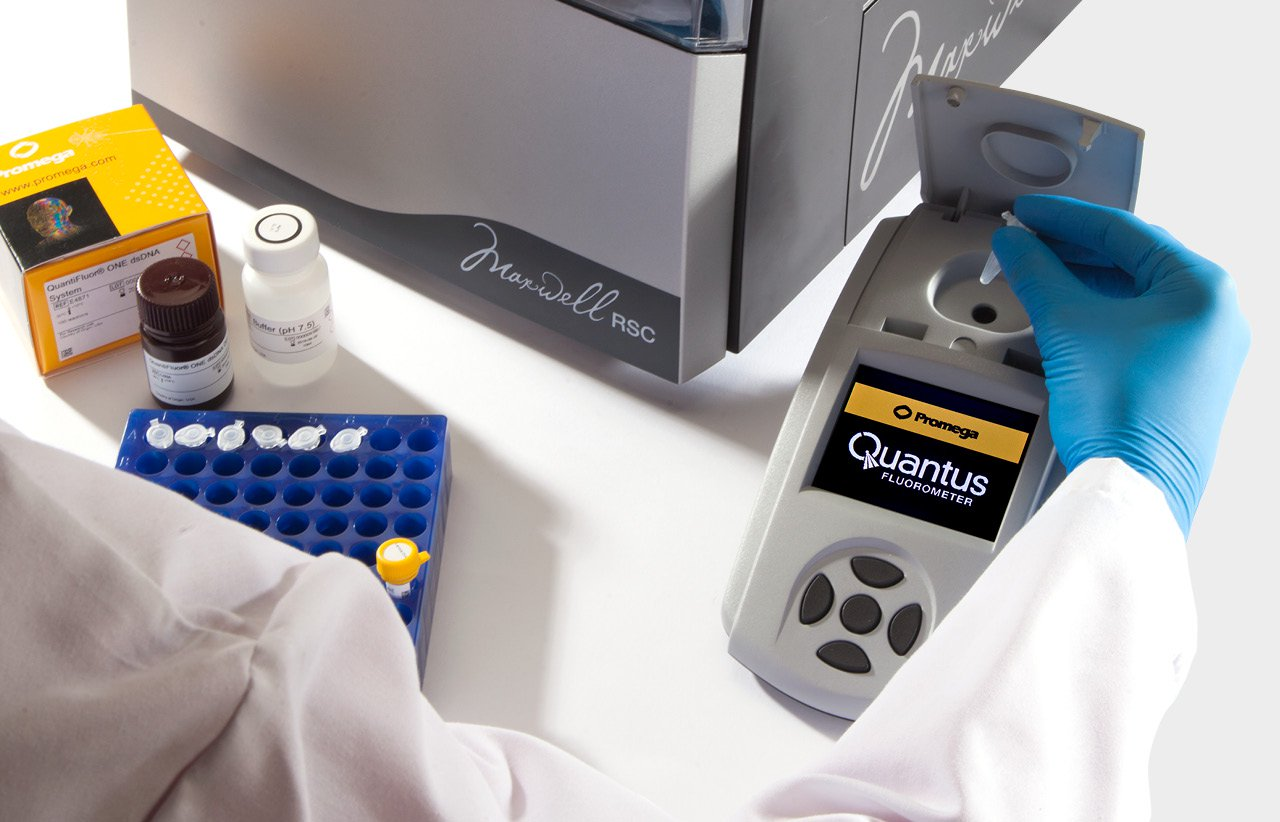 Photo of Quantus after Maxwell RSC DNA RNA Extraction