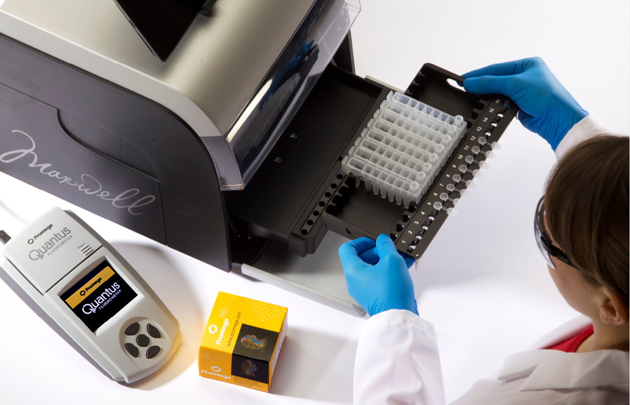 Photo of Easy-to-Use DNA RNA Extraction Kit Interface