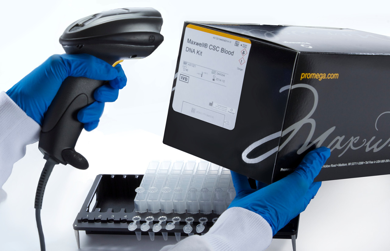 Scanning Maxwell CSC Blood DNA Kit