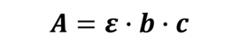 Beer Lambert Law for calculating concentration of an analyte by UW absorbance