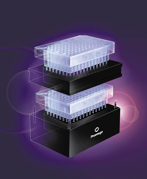 The Wizard SV 96 and SV 9600 Plasmid DNA Purification Systems require the use of a vacuum manifold (Vac-Man 96 Vacuum Manifold, Cat.# A2291).