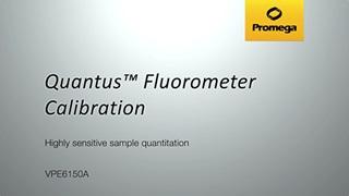Quantus Fluorometer Calibration