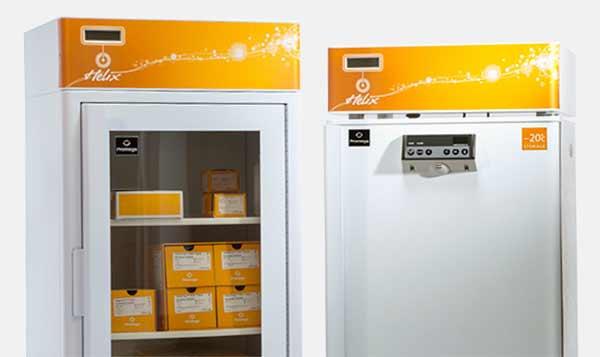 Promega Helix on-site stocking unit holds Promega products